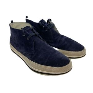 PRADA MEN'S SUEDE SHOES NAVY BLUE SIZE 10 USA